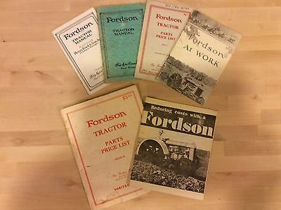 The Fordson Parts Catalog    Fordson Tractor Manual