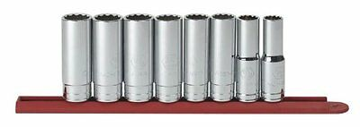 GearWrench 80713 8 Piece 1/2-Inch Drive 12 Point Deep SAE Socket Set