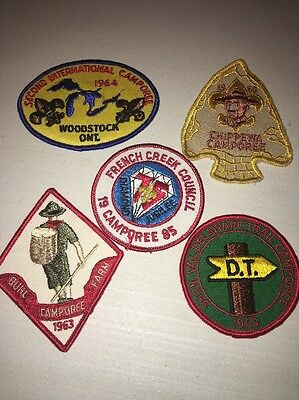 Boy Scouts Of America Lot Of 5 1960's-80's Patches Vintage