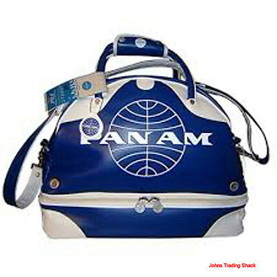 Pan Am Certified Large Vintage Inspired Retro Gym Travel Carry On Bag