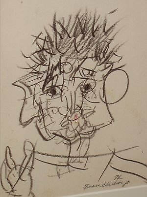 """Robert Beauchamp, Signed, Pencil Drawing, """"Self Portrait"""", Provincetown & N.Y."""