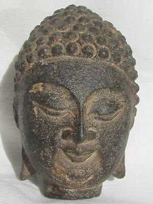 Antique Chinese carved Stone Buddha Head