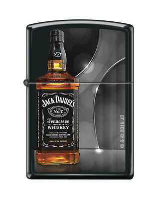 Zippo 1427, Jack Daniels Tennessee Whiskey Old No. 7, Black Matte Finish Lighter