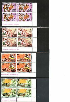 Lot 59236 Mint Nh 236 - 239 Blocks Of 4  Turks And Caicos Islands