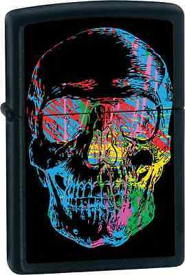 Zippo 28042, Skull, X-Ray, Black Matte Finish Lighter, Full Size