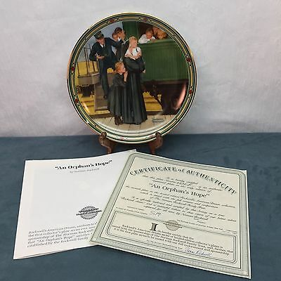 An Orphan's Hope Norman Rockwell American Dream Knowles Collectors Plate 2430E