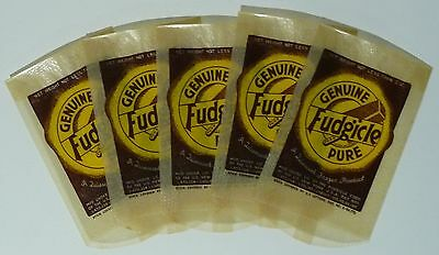 Lot of 5 Genuine Fudgicle (Fudgsicle) Wrappers From 1930's - Mint, Unused Stock
