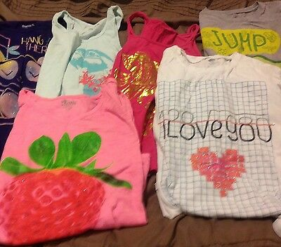 Lot of 7 girls t shirts Tank Tops GAP Old Nave size XL 14