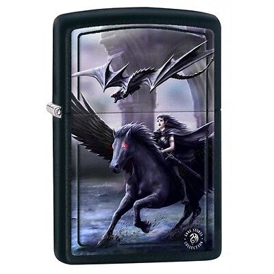 Zippo 2431, Anne Stokes-Realm of Darkness, Black Matte Finish Lighter