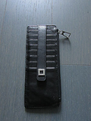 LODIS Black Artemis RFID Credit Card Case Leather Wallet (NWB without tags)