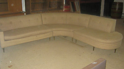 Mid Century 1950's Scott Shuptrine  Corner Sofa and  Table
