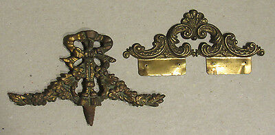 Vintage Victorian old ornate cast iron & stamped architectural salvage topper