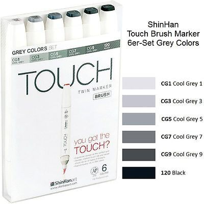 ShinHan Touch Brush Marker Grey Colors A