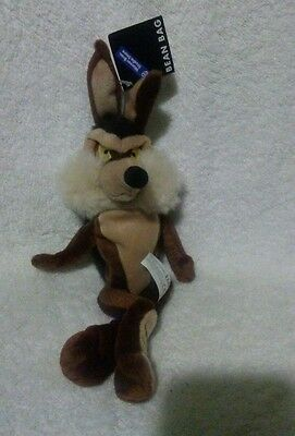 Wile E Coyote Bean Bag Warner Bros Studio Store Plush WB Toy