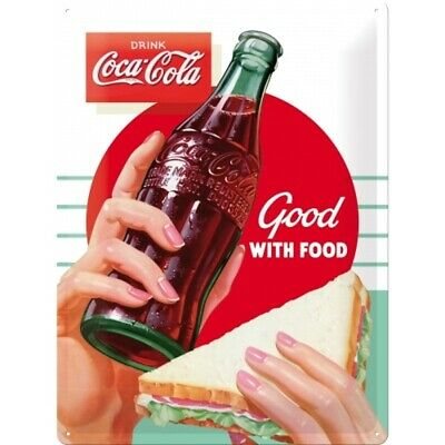 Blechschild Coca Cola  Good Food Metall Schild 40 cm,Shield Neu