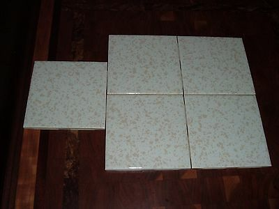 vintage wall tiles florida tile co 5 nos 4 1/4 x4 1/4 white with tan speckle