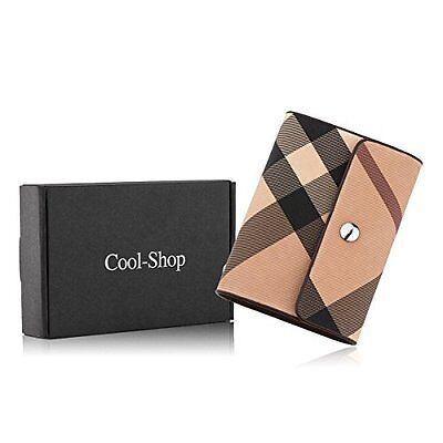 Cool-Shop® Plaid Leather Credit Card Holder ID Business Case with 26 Card Slo...