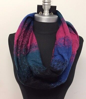 New Women's Fashion Infinity 2-Circle Cowl Neck Long Scarf Wrap Soft Multi color