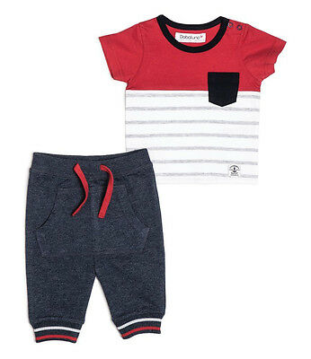 Baby Boys T-shirt & Jogging Bottoms Outfit - Red (0-18 Months)