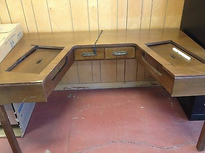 vintage double sewing table