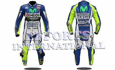 Valentino Rossi VR46 Motorbike Racing Leather Suit 2015 Mens & Womens All Size