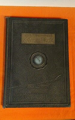 1935 NEW INTERNATIONAL ATLAS OF THE WORLD, filled with ARTICLES, MAPS & PHOTOS