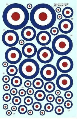 Xtradecal X48037 1/48 RAF Post War D Type roundels Model Decals