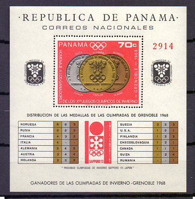 PANAMA Sheet  Mi 92 Mnh Winterspelen Winterspiele Winter Games grenoble [007]