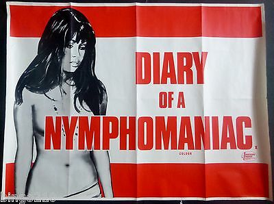Sinner The Secret Diary Of A Nymphomaniac 1973 Quad Poster Jess Franco