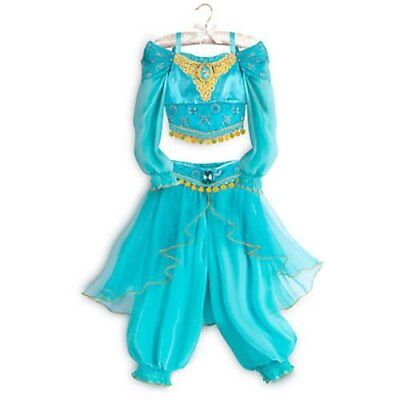 Girls Size 4 Princess Jasmine Costume From Aladdin  Disney Store Nwt