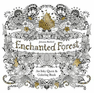 Adult coloring of 1 books relieve stress new Coloring Book enchanted forest