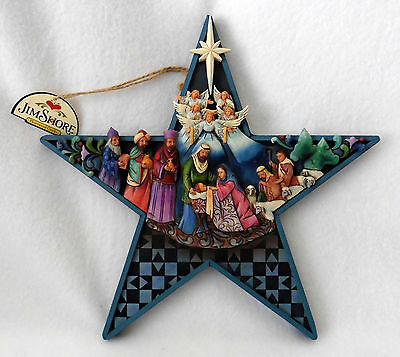Jim Shore Christmas Bethlehem's Star w easel Enesco Heartwood Creek Mint w Tag