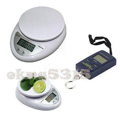 Digital Electronic Kitchen Food Diet Postal Scale Weight Balance 5kg/1g 40kg/10g