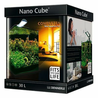 Nano Cube Complete PLUS 30 Litre Tropical Fish Tank Aquarium Light Thermometer