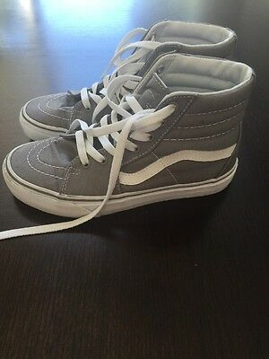 Vans Gray Lace Up High Top Shoes Size 5 Men's Or 6.5 Women's
