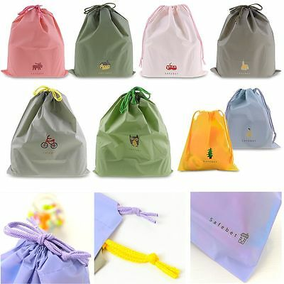 Waterproof Laundry Shoe Travel Pouch Portable Tote Drawstring Storage Bag Case