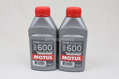 Lot 2 bidons Motul RBF 600 liquide freins RBF600 DOT4 2x 500ml RAPIDE