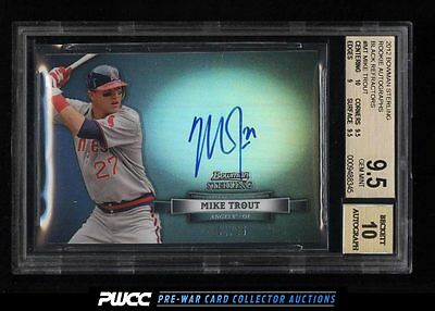 2012 Bowman Sterling Black Refractor Mike Trout ROOKIE AUTO /25 BGS 9.5 (PWCC)