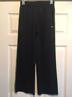 """""""CHAMPION""""  BLACK JOGGING PANTS With Gray/Green SIZE L(12-14)Youth"""