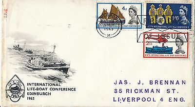 G.B. 1963 Life boat  First Day Cover, Liverpool Postmark
