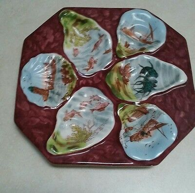 Antique Austrian  Oyster Plate Rare And Hard to Find