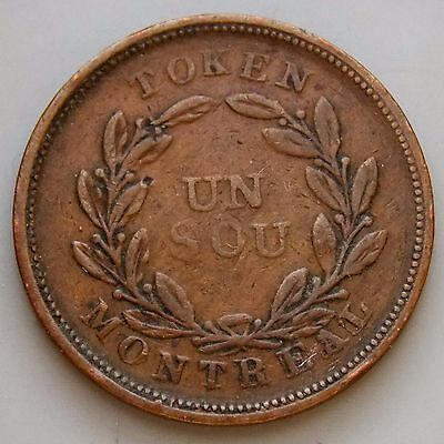 LC-32B Lower Canada Canadian Colonial 1/2 Penny Bouquet Sou Token
