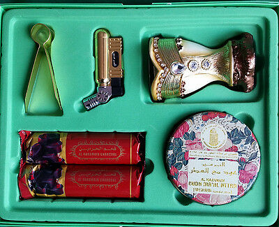 Oudh Ma'al Attar Traveller Set Al Haramain complete all-in-one bakhoor oud set