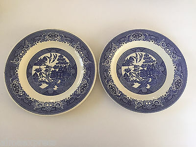 """Lot of 2 Blue Willow Ware by Royal China - 10"""" DINNER PLATE"""