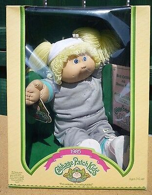 "Vintage 1985 Cabbage Patch Kids Doll by Coleco ""Elna Irisa"" MIB"