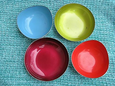 (2) Reed & Barton Enameled Bowls And (2) Heirloom Silverplated Bowls