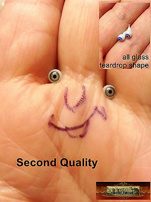 M00674 MOREZMORE Glass Eyes SECONDS 4mm 1:6 1/6 Scale STEEL GREY Small Mini A60