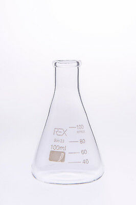 Conical Flask 100ml Erlenmeyer Laboratory Borosilicate Glass