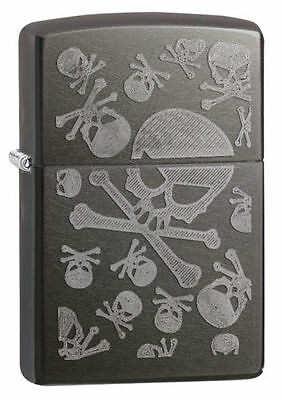 Zippo 28685, Iced Skulls, Gray Dusk Finish Lighter, Full Size