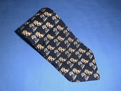 Hardy Amies Puppy Tie Polyester Made In Australia